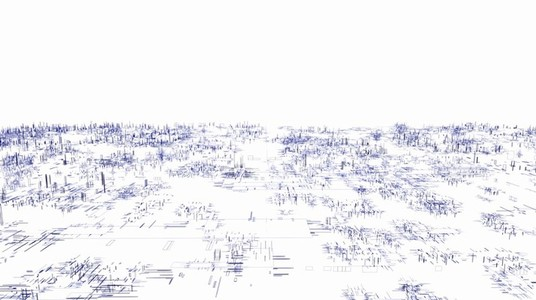 Abstract Linear Wireframe 05