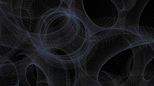 Abstract Organic Wireframe 07