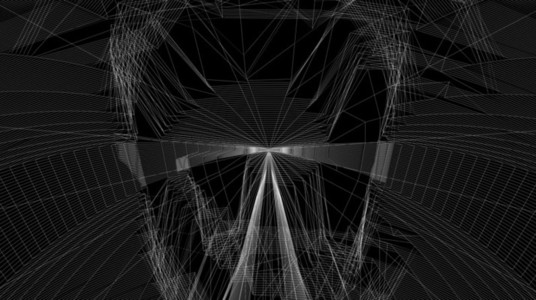 Abstract Organic Wireframe 11