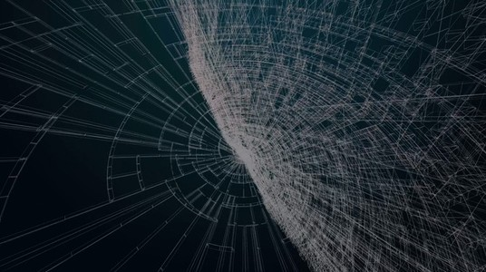 Abstract Organic Wireframe 08