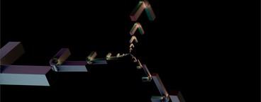Box Array with Wireframe 01