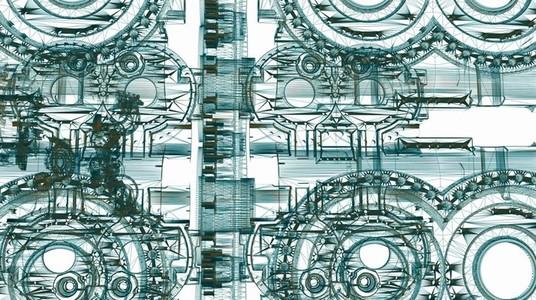 Mechanical Wireframe 06