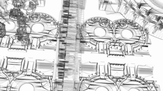 Mechanical Wireframe 08