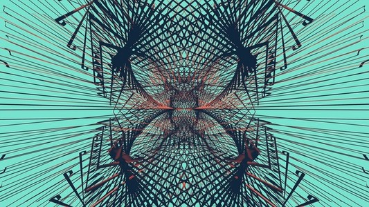 Abstract Linear Wireframe 16