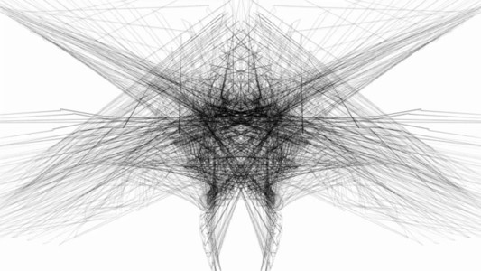 Abstract Linear Wireframe 15 BW