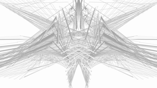 Abstract Linear Wireframe 16 BW