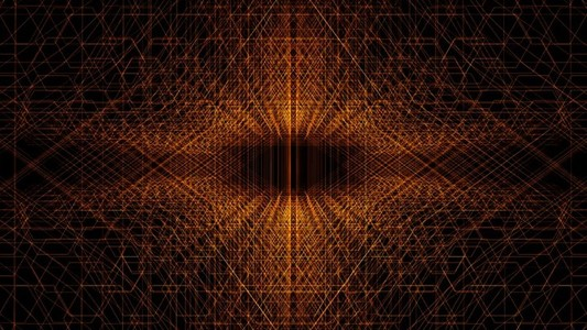 Abstract Linear Wireframe 20