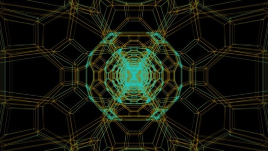 Dodecahedron Wireframe 01