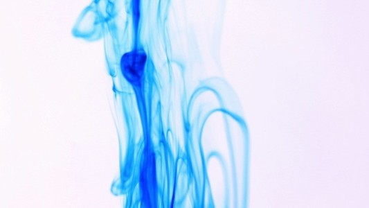 Ambient Falling Blue Ink Drops